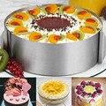 16-30 см регулируемая форма для торта из нержавеющей стали печенье с жидкой помадкой в центре мусс кольцо инструмент для выпечки круглая форм...