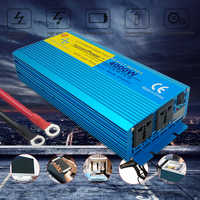 Digital Display PURE SINE WAVE POWER INVERTER 4000W DC 12V/24V To AC 110V/220V CAMPING BOAT Converter With LCD Display 2 AC OUT