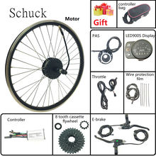 Schuck Electric bicycle conversion kit with LED900S display 36V 250W Electric bike rear cassette hub motor spoke and rim(China)