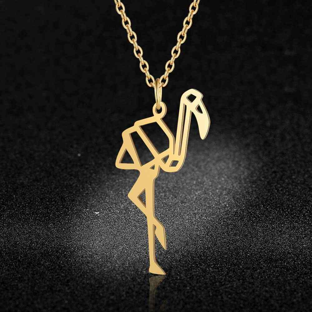 Flamingo Pendant Necklace LaVixMia Italy Design 100% Stainless Steel Necklaces for Women Super Fashion Jewelry Special Gift