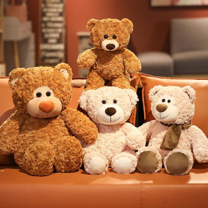 Cuddly Bear Plushie Giant Stuffed Animals Scaf Stitchie Teddy Bear Soft Samll Toys Baby Companion Doll Birthday Gifts For Girls Just6F
