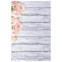 Photo Studio Wood Floor Printing Backdrops Romantic Floral Photography Studio Video Art Cloth Background for Camera Photo