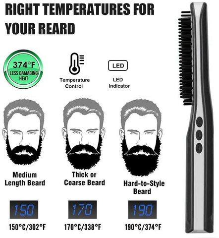 alisador de cabelo plana ferro pente barba