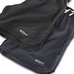 Image 5 - Calções masculinos verão preto moda casual fitness compressão ginásio hombre musculação jogger roupas de treinamento meia calças suor