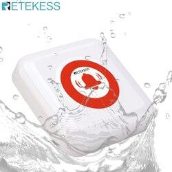 Retekess td002 chamada sem fio sino à prova dipágua ipx3 botão de chamada transmissor idosos chamada de emergência para o sistema de chamada enfermeira