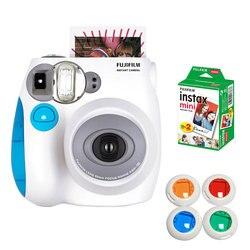 Fujifilm Original Instax Mini 7s Instant Photo Camera Bundle with 10 Sheets Fuji Instax Mini White Film Gift Close-up Filter