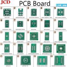 JCD комплект печатной платы SMD поворот к DIP SOP MSOP SSOP TSSOP SOT23 8 10 14 16 20 24 28 SMT к DIP SMD преобразователь адаптера