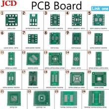 Комплект печатной платы JCD, Новая плата SMD для DIP, SOP, SSOP, TSSOP, SOT23, 8, 10, 14, 16, 20, 24, 28, SMT для DIP, SMD, конвертер для DIP-адаптера