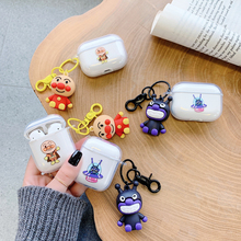For Apple Airpods Pro Case with 3D Cute Pendant Earpods Cases for Airpod 2 1 3 Air Pods Pod Pro Cover Coque Fundas Accessories 3d lucky rat cartoon bluetooth earphone case for airpods pro cute accessories protective cover for apple air pods 3 silicone
