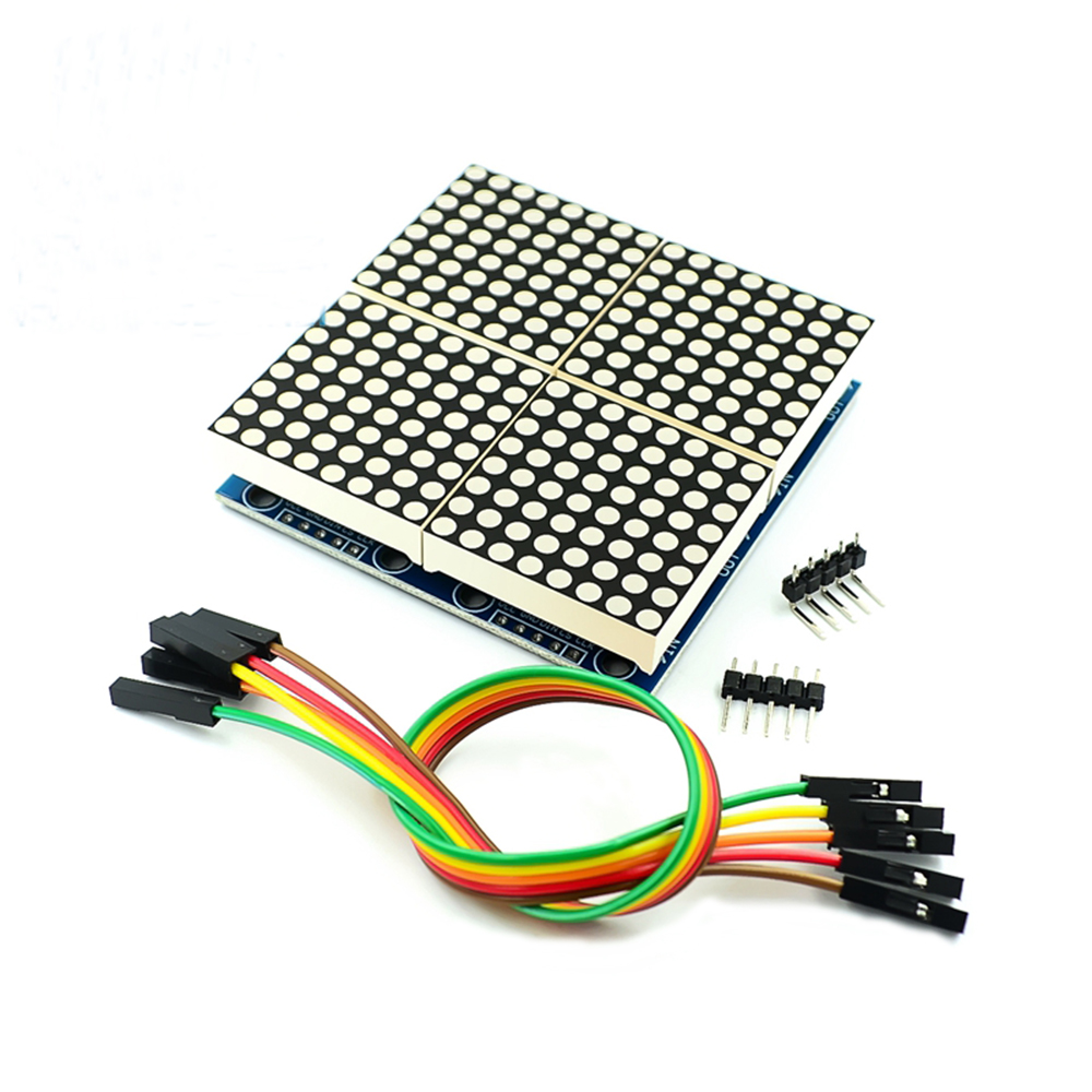 MAX7219 Module LED matrice de points 8 * 8mcu Module de contrôle d'affichage de LED pour arduino 5V Module d'interface 8x8 entrée de sortie Cathode commune