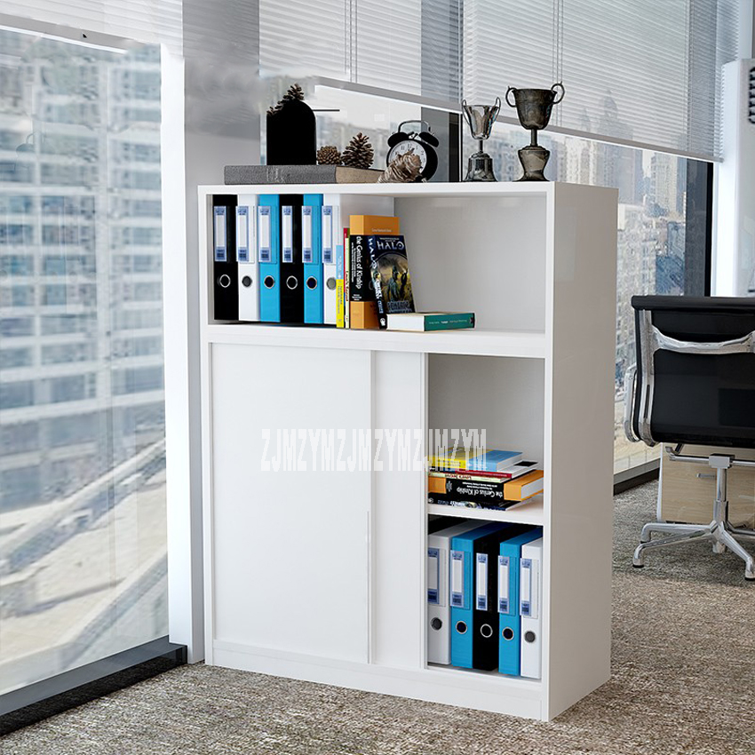 1pcs Office File Cabinet Low Cabinet With Lock File Small Side Cabinet Wooden Data Cabinet Partition Storage Locker 120*40*80cm