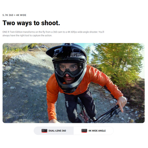 Image 5 - Insta360 ONE R Twin Edition new sports Action Camera 5.7K 360 4K wide angle waterproof video camera