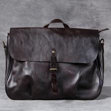 Casual Genuine Leather Men Briefcase Bag Laptop Bag Large Capacity Waterproof Luxury Business Bag Office Handbag Document Case