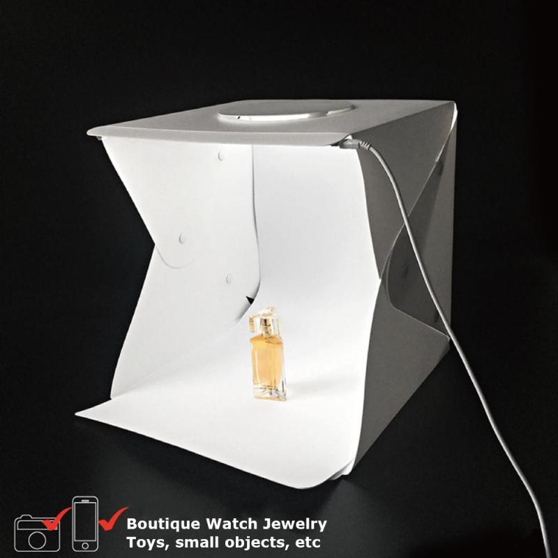 2 LED Folding Lightbox 30*30cm 4 Color Portable Photography Photo Studio Diffuse Softbox Brightness Light Box For DSLR Camera
