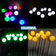 Outdoor Waterproof Led Luminous Glow Ball Christmas Decoration Lights Night Reed Lamps Garden Lawn Spike 10pcs/Pack