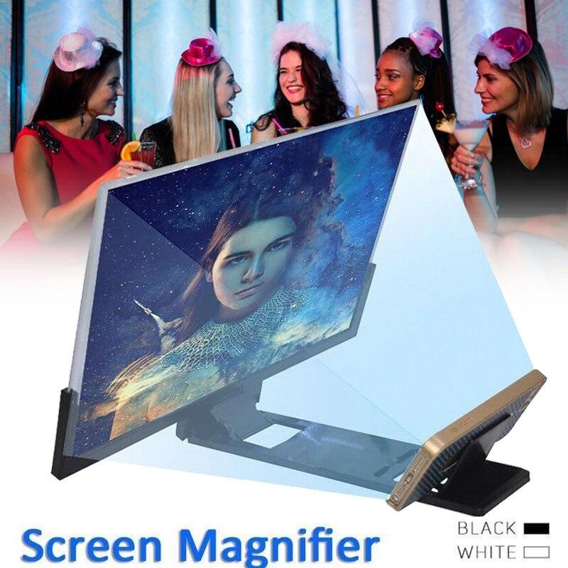 14 дюймов 3D Увеличенный экран усилитель для мобильного телефона Лупа кронштейн держатель для мобильного телефона