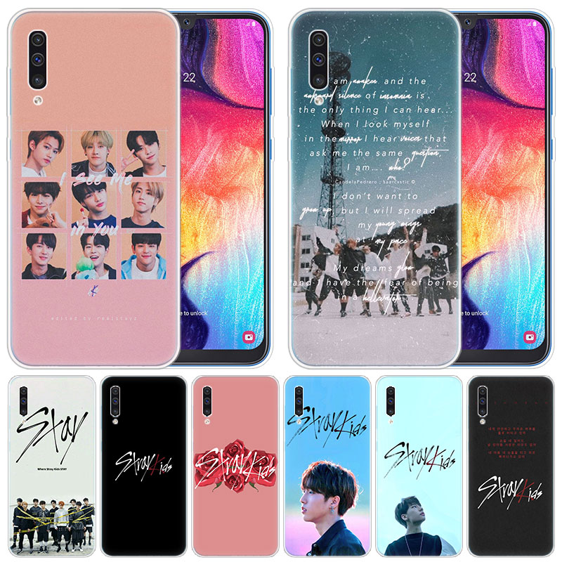 luxury Silicone <font><b>Case</b></font> Stray Kids for <font><b>Samsung</b></font> <font><b>Galaxy</b></font> A50 A70 A80 <font><b>A40</b></font> A30 A20 A10 A20E A2 CORE A9 A8 A7 A6 Plus 2018 Fashion <font><b>Cover</b></font> image