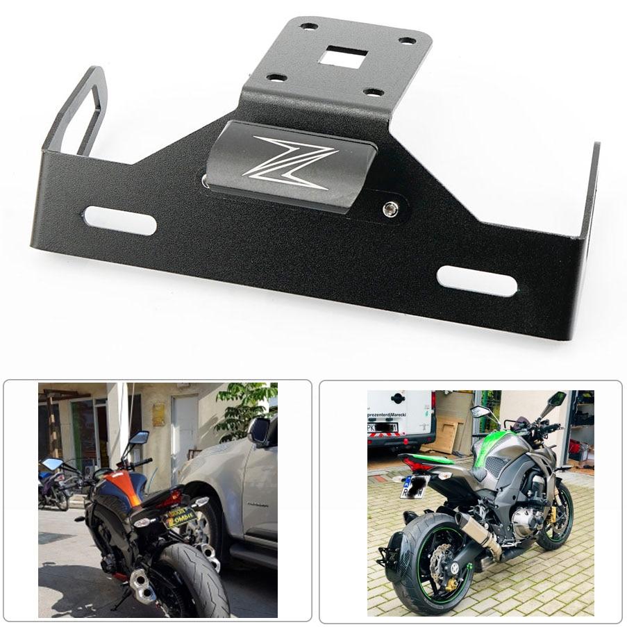 Z1000S SX 2011-2018 Universal Fender Eliminator Plate Bracket License Plate For Kawasaki Ninja 1000 2011-2018 Ninja 300 2012-2017