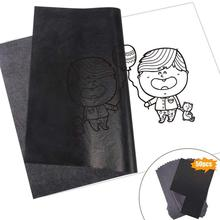50Pcs/Set Black A4 Copy Carbon Paper Painting Tracing Reusable Graphite Paper Legible Tracing Accessories Office stationery