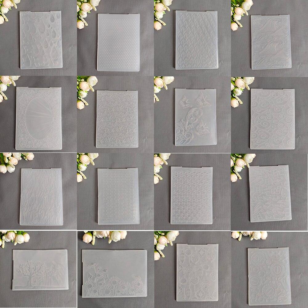 28 modelle Prägung Ordner Transparent Präge Kunststoff Platten Design Für DIY Papier Schneiden Stirbt Scrapbooking Größe 10,5x14,5 cm