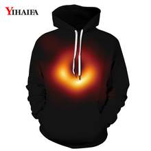 3D Hoodies Mens Womens Space Galaxy Black Hole Sweatshirt Graphic Outerwear Casual Coat Pullover Tracksuit Unisex Tops