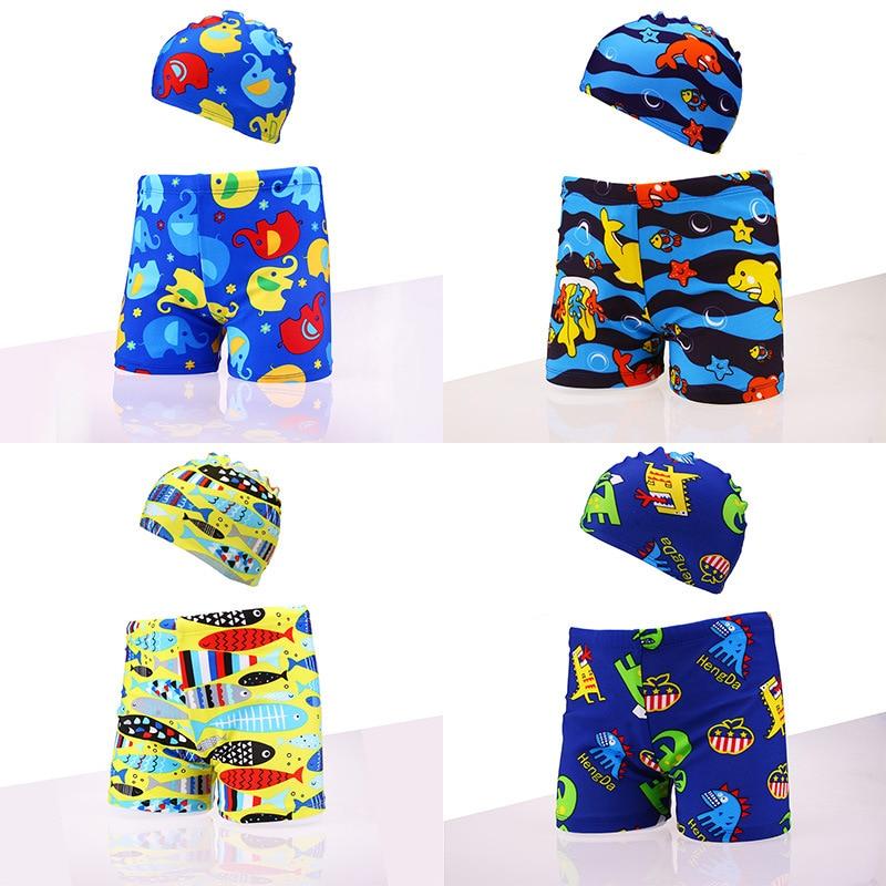 VIDMID Kids Baby Boys Swimsuit Shark Stars Stripe Print Shorts Trousers Swimming Clothes Beachwear Swimwear Suits  4210 01