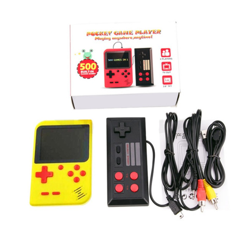 Retro Video Game Console Handheld Game Portable Pocket Game Console Mini Handheld Player For Kids Gift 500 IN 1