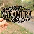 Персонализированный акриловый знак для любого имени, наружный подвесной знак для семейного имени, монограмма, знак для садовой двери, индив...