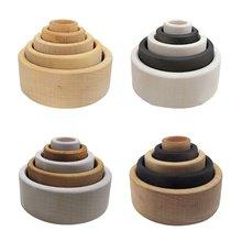 5 шт/компл детский деревянный стекер игрушка детская укладка