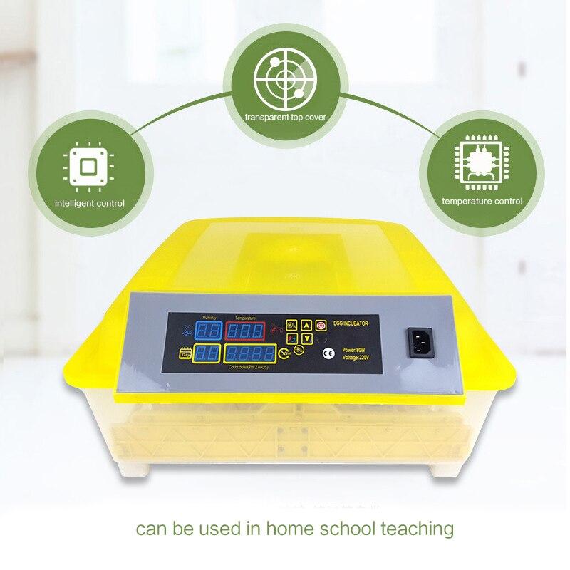 48 инкубатор для яиц цифровой полностью автоматический мини инкубатор для яиц токарная машина - 6