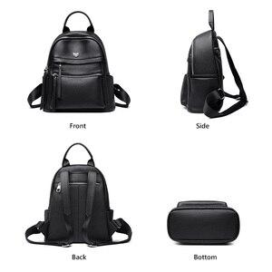 Image 2 - Женский деловой рюкзак FOXER, вместительный кожаный рюкзак для ноутбука и путешествий, 2019