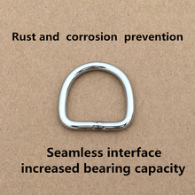 20PCS Stainless Steel Seamless D-Ring Buckle Bag Belt Leather Strong Hardware 20mm 50mm