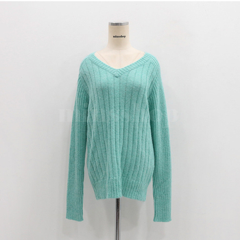Ailegogo Casual Women Pullovers Spring Autumn Knitted Female Slim Fit Solid Color Sweater Knitted Ladies Knitwear Tops 4