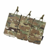 TMC Magazine Pouch 556 Triple Molle Military Mag Tactical Pouches MOLLE Vest Trigeminy Storage Bag Free Shipping