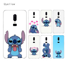Uyellow Disneys Stitches Silicone Soft Case For One Plus 7 Pro 6 6T 5 5T Fashion Fundas Printed Cover Luxury Phone Coque Shell