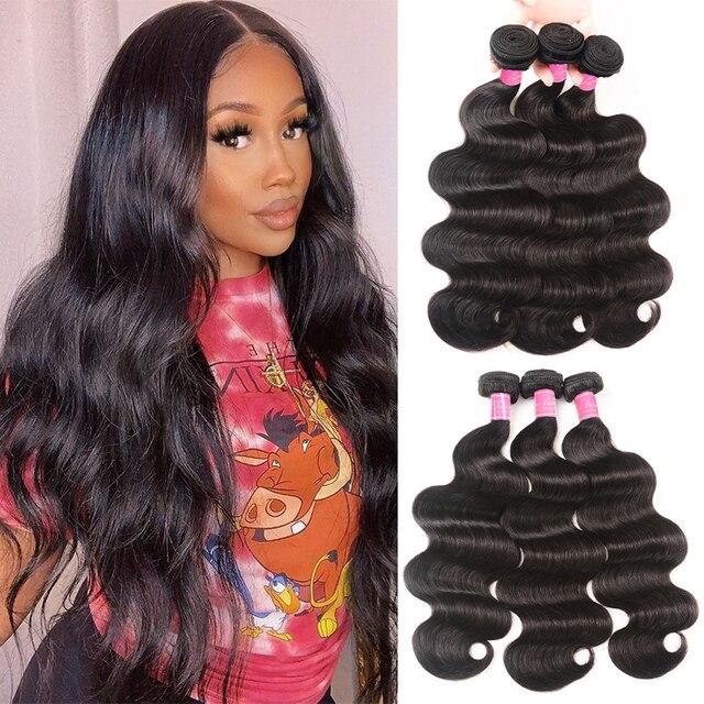 Ali Julia Hair malezyjski ciało fala 100% ludzkie włosy splot wiązki 8 do 30 cali 3 zestawy Deal Remy do przedłużania włosów podwójne pasma weft hair extensions weft bundlesweft human hair extensions -