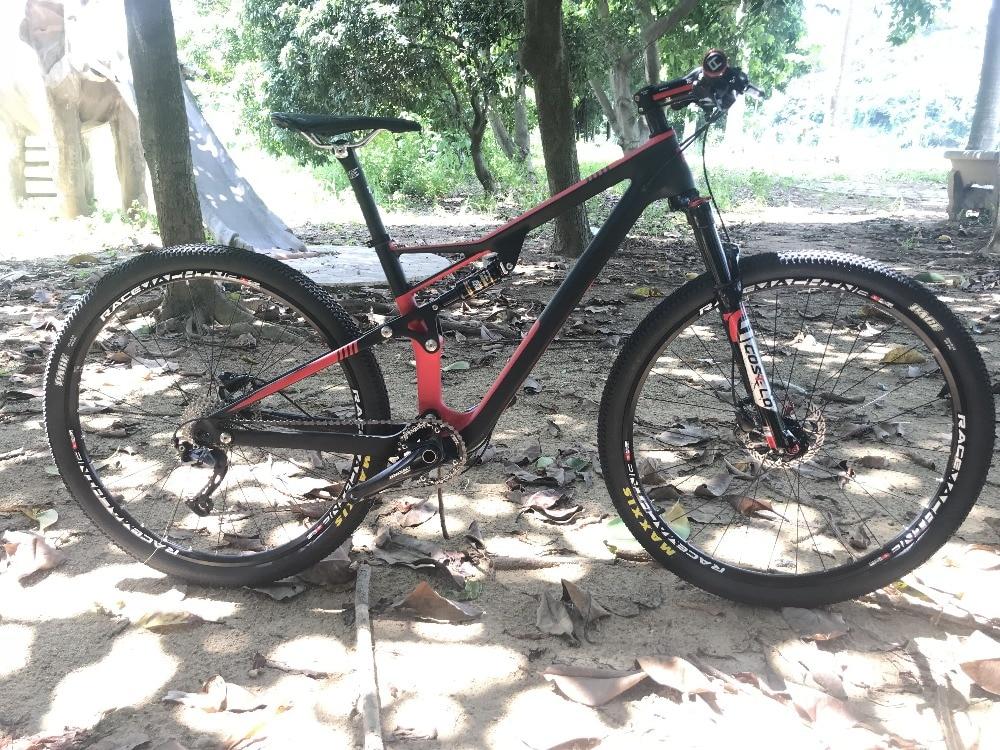 Горячая распродажа! УГЛЕРОДНЫЙ подвесной велосипед, 29er горный велосипед, углеродный полный подвесной велосипед 15 17 19 дюймов, подвесной вело...