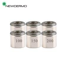 NEWDERMO 5 PCS punte cilindriche per microdermoabrasione per macchina di bellezza per salone di ringiovanimento della pelle esfoliante con diamante multifunzione