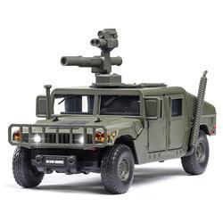 1:32 Масштаб M1046 бронированный автомобиль модель литые автомобили игрушки анти-Танк ракета пусковая машина сплав авто с горячей тяги назад