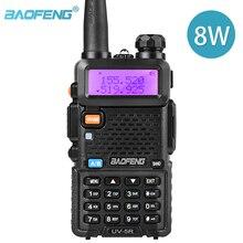 Bộ Đàm BaoFeng UV 5R 2 Chiều Đài Phát Thanh Thực 8W 10KM 128CH 2 Băng Tần VHF(136 174MHz)UHF(400 520MHz) Nghiệp Dư Hàm Di Động Bộ Đàm