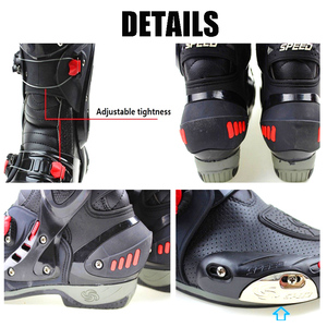 Image 4 - Mens Motorcycle Boots Motorbike Waterproof Speed Shoes Motocross Tall Boot Dirt bike ADV Sport Touring Boots Shoes