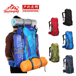 Professional mountaineering bag large capacity hiking camping backpack shoulder bag outdoor hiking bag sports bag with rain cove