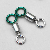 10Pcs Lots Fishing Swivel Solid Ring Connector High Strength Durable Terminal Tackle Tool High Quality