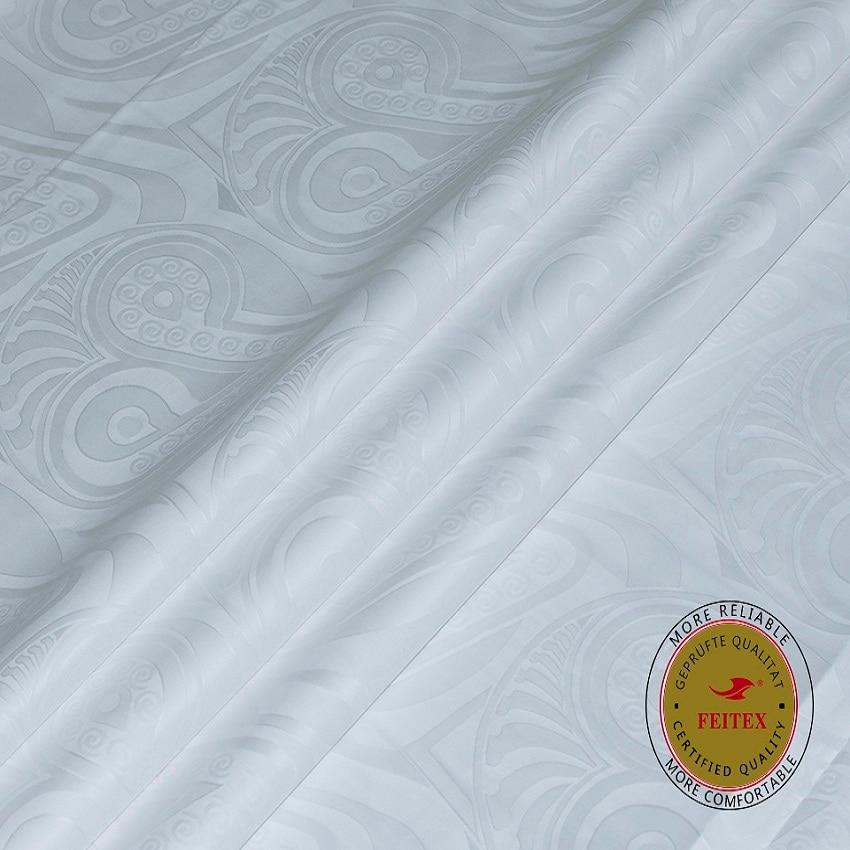 FEITEX Guinea Brocade Garment Fabric 2019 African Bazin Riche New White Damask Shadda Kaftan Dress Fabric