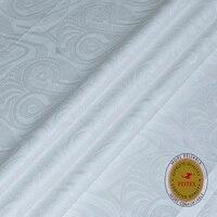 FEITEX Guinea Brocade Garment Fabric 2020 Real Bazin Riche White Damask Shadda Kaftan Dress Fabric 5 Yards/Piece