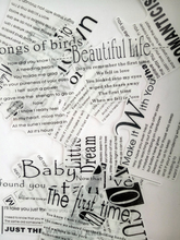 Nikier Black And White Vintage English Love Diary Life Inspiration Phrase Washi Sticker Stationery Decorative DIY Diary Stickers xuanxuan diary black s