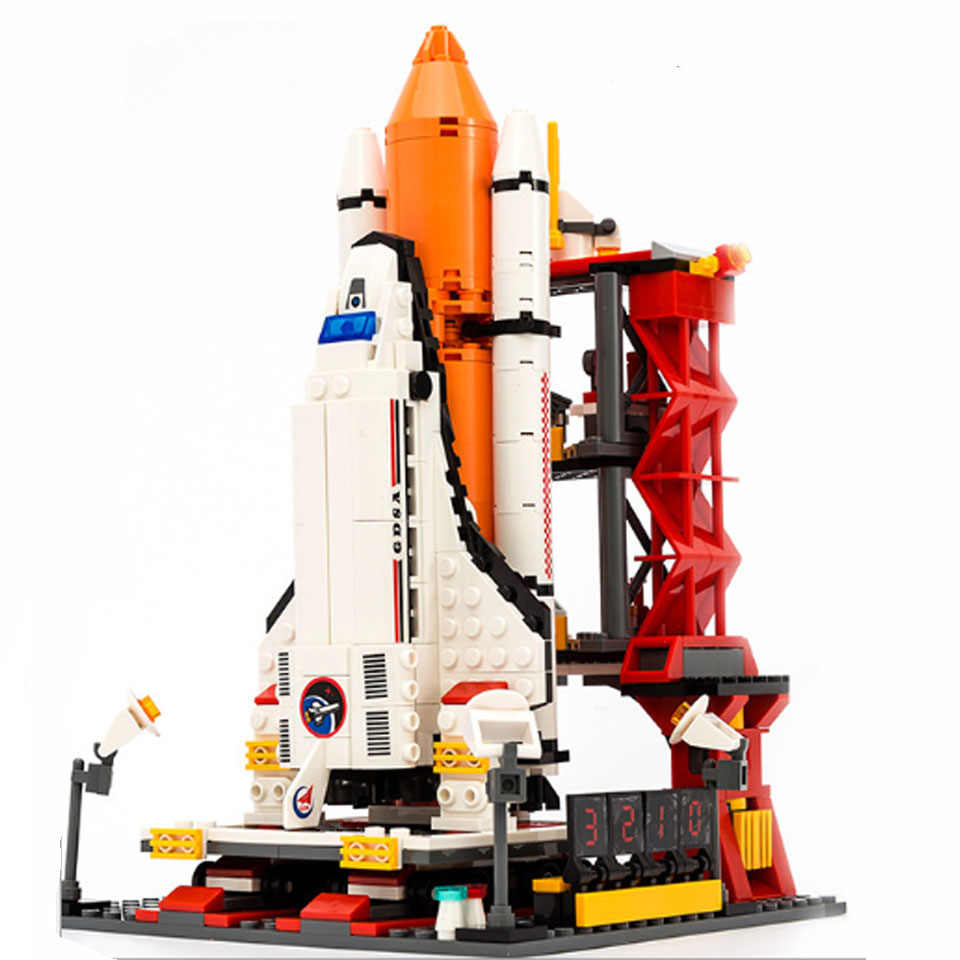 679Pcs Città Spazioporto Space Shuttle Launch Center legoinglys Mattoni Building Block Giocattolo Educativo Per Bambini di Design Per Blocco