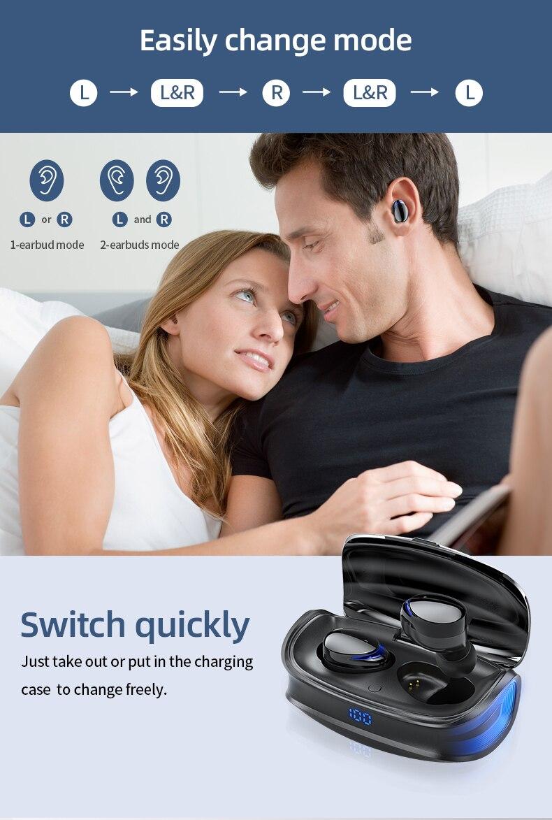 HJCE T8 TWS Wireless Bluetooth Earphones 8
