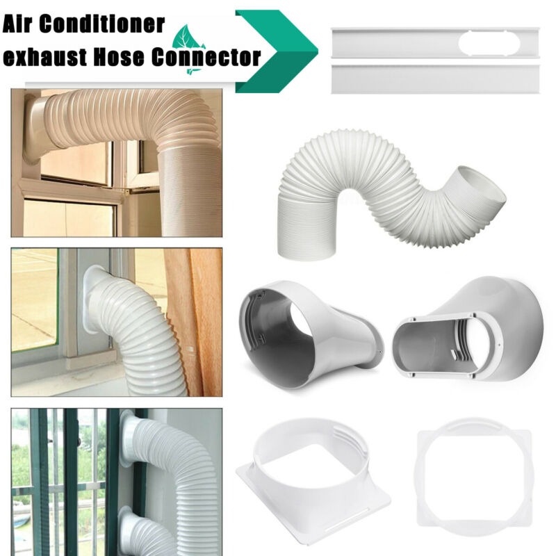 2PCS Adjustable Window Slide Kit Plate For Portable Air Conditioner Wind Shield