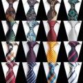 Модный клетчатый жаккардовый тканый Шелковый мужской галстук с пейсли-рисунком шейный галстук 8 см Полосатый галстук для мужчин деловые Св...